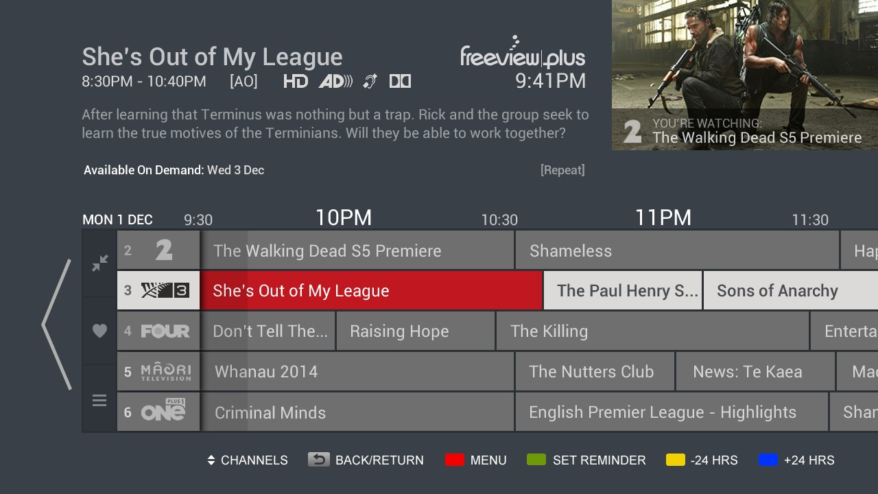 FreeviewPlus - New Enhanced TV Guide